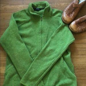 Green Lands End Medium Quarter Zip Sweatshirt